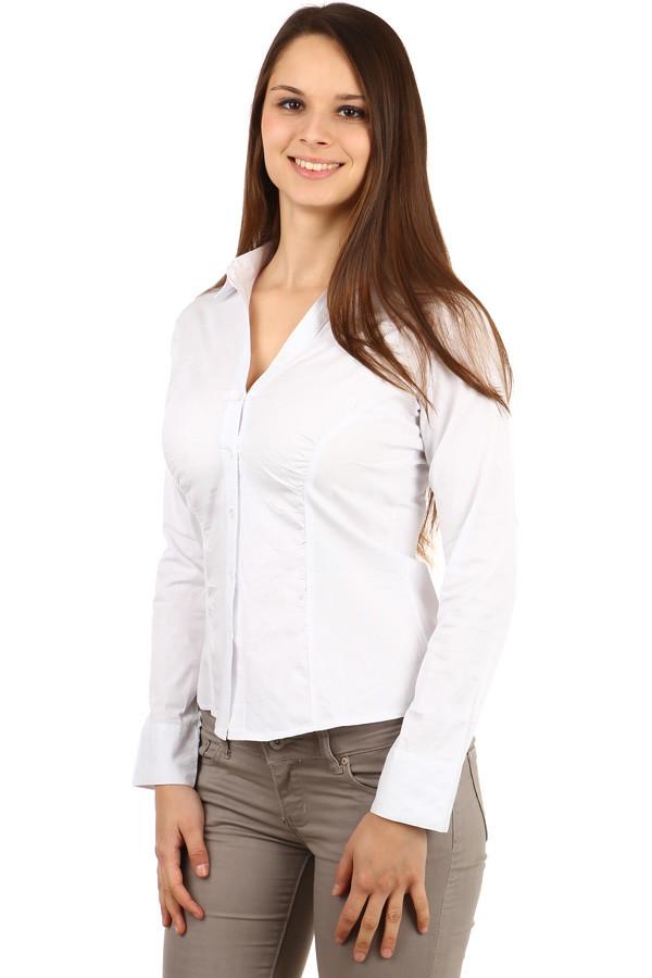 834d761e9ea Společenská bílá dámská košile s dlouhým rukávem