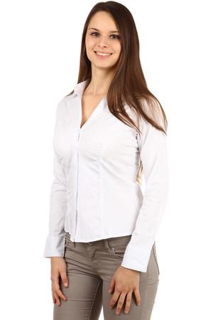 Společenská bílá dámská košile s dlouhým rukávem 045c55216a