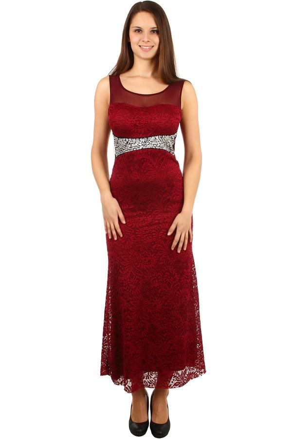 1ef5c8c1640c Dlouhé plesové šaty s krajkou