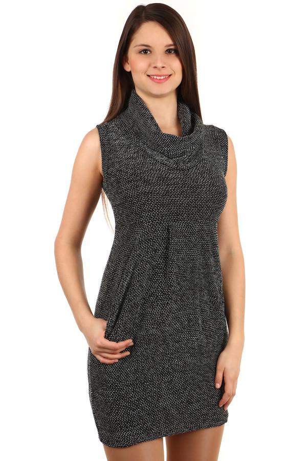 Dámské podzimní úpletové šaty s širokým rolákem  49245edb47