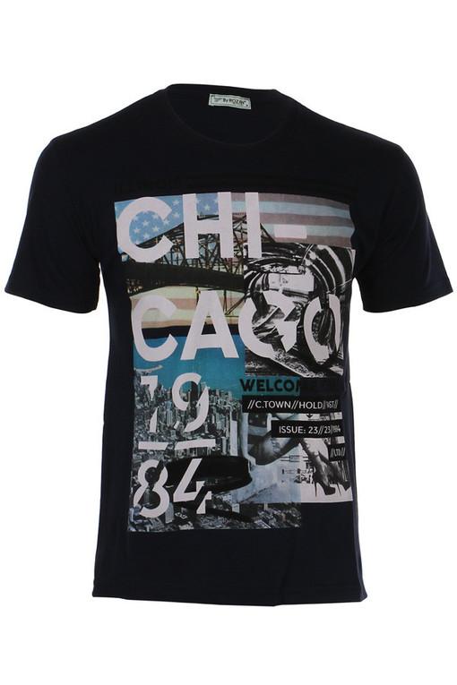 Pánské bavlněné tričko s krátkým rukávem a potiskem  808cfe3b5a