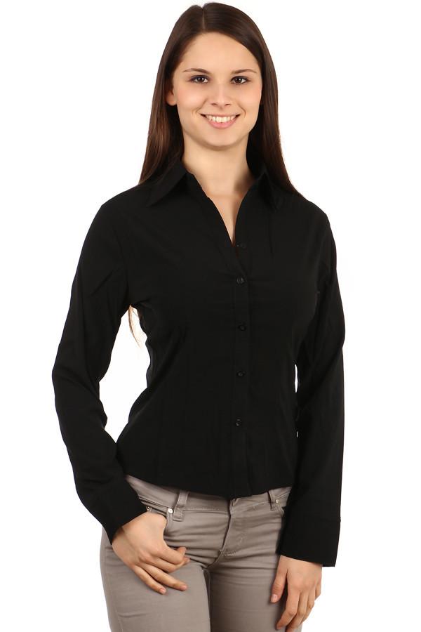 Dámská černá business košile s dlouhým rukávem  732d3a49e3