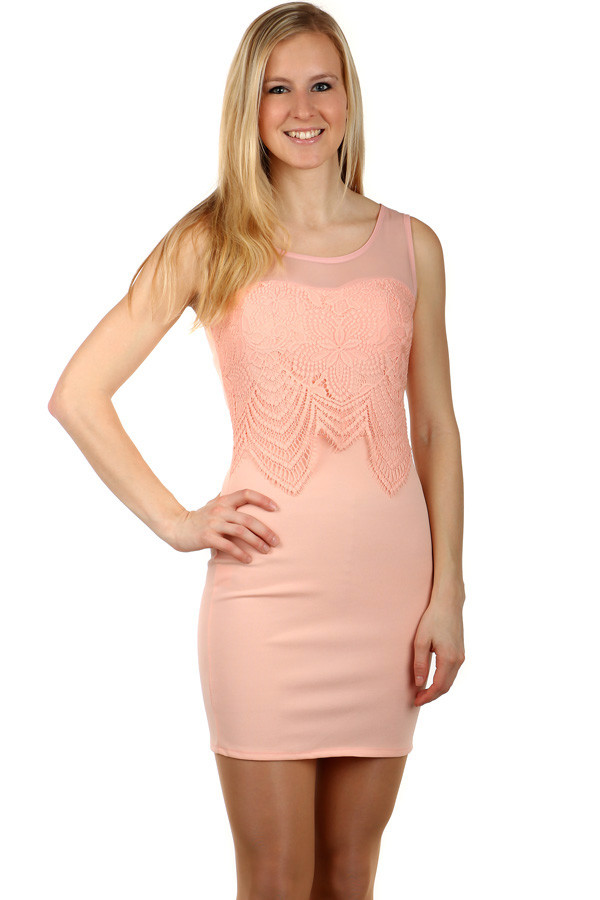 Krátké šaty s krajkou ozdobou  a07b7a2ec9