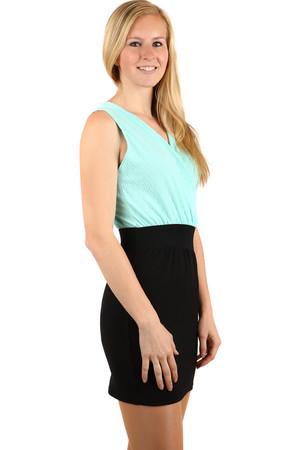 20f5aa6e0e7 Dámské krátké zelené večerní společenské šaty pro plnoštíhlé