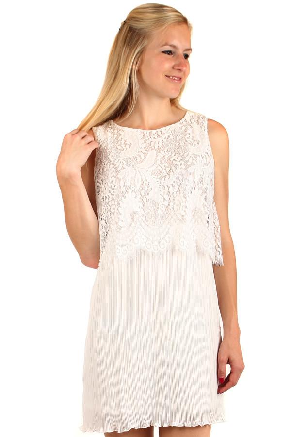 91d5ffe25fd1 Vícevrstvé šaty s krajkovým dílem