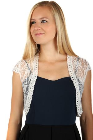 e5d0b801121 Dámské krajkové průhledné bolerko na šaty