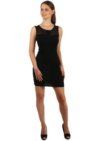 Luxusní dámské krátké černé bavlněné šaty jednobarevné bez rukávu xl ... 80363f051b