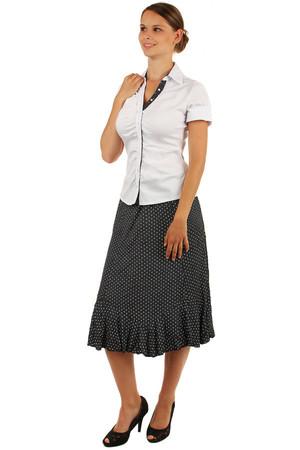 759d22c5e01a Dámská puntíkatá retro sukně delšího střihu i pro plnoštíhlé