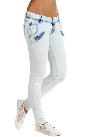 de845fa3bf2 Dámské bílé úzké džíny