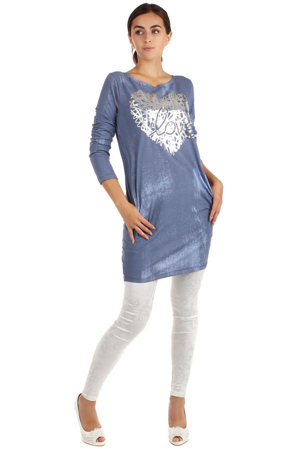 411bdce69f5e Pohodlné šaty s dlouhým rukávem a potiskem