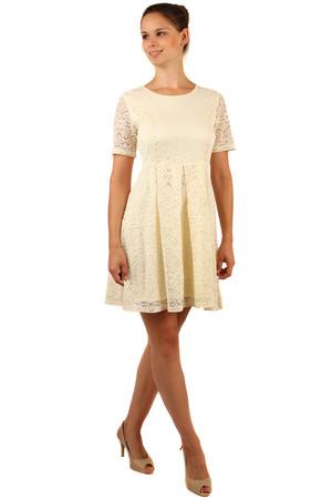 7607f492056 Krajkové šaty s krátkým rukávem