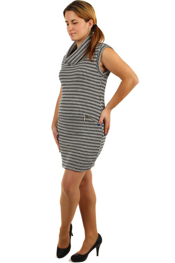 1265730b8334 Dámské podzimní pletené šaty pro plnoštíhlé