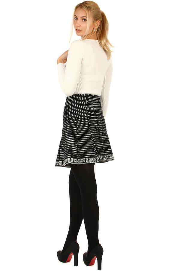 84d8281503f2 Dámská áčková úpletová krátká sukně na zimu