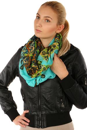 f08d52f2528 Kruhový dámský šátek s originálním vzorem