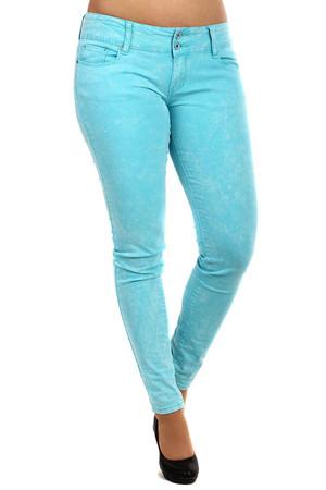2be3b30582e Dámské barevné úzké džíny s nízkým pasem