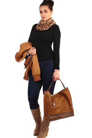 4788875b96d Kruhový dámský šátek s leopardím potiskem