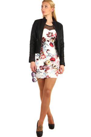 e8fed09e26c Krátké šaty s potiskem květin
