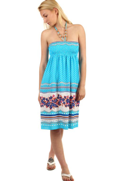 Dámské puntíkované midi letní šaty  91973cae96
