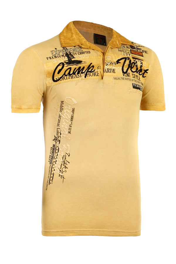 Pánské vintage tričko s nápisem a krátkým rukávem  3bd34a8c3b