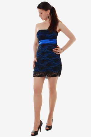 Levné krátké modré večerní společenské šaty xl  048f8fcfdf8