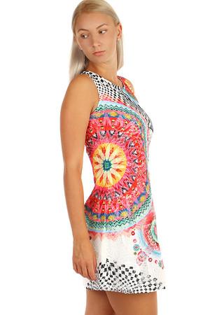 18f439d46f3f Dámské krátké letní šaty s ornamenty