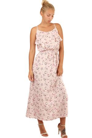 0992d003d808 Luxusní dlouhé růžové šaty květované pro plnoštíhlé