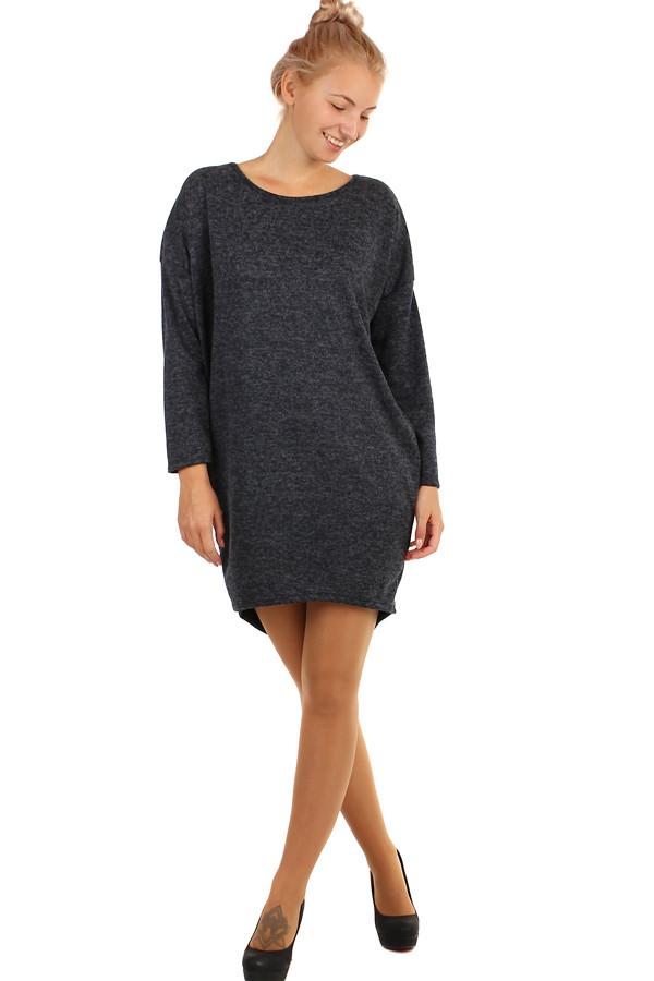 Dámské krátké volné zimní šaty s dlouhými rukávy 6688c1ad13