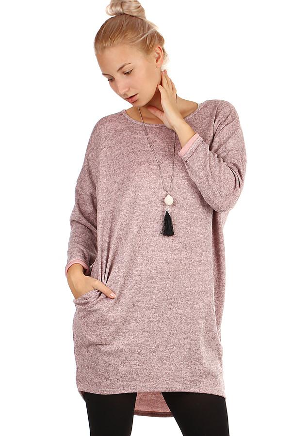 Dámské krátké volné zimní šaty s dlouhými rukávy  62c0be818d