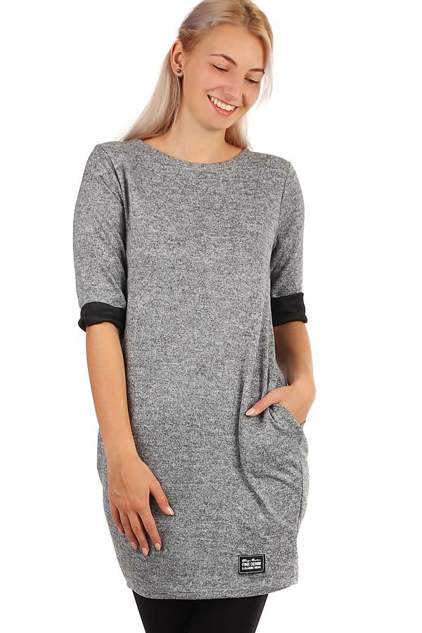 Dámské podzimní úpletové šaty s kapsami  14aea20b9f