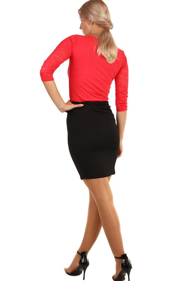 d95d569e0af2 Černá dámská krátká pouzdrová sukně i pro plnoštíhlé