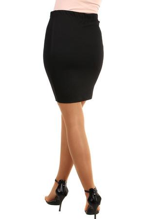 fe55926e187e Dámská černá pouzdrová sukně i pro plnoštíhlé