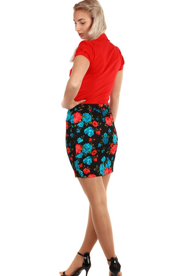 5113d96a2170 Dámská květovaná krátká pouzdrová sukně