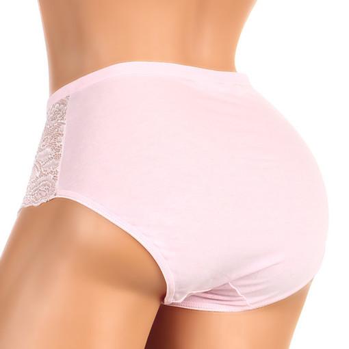 Bavlněné vysoké kalhotky s krajkou  3e89b7e628