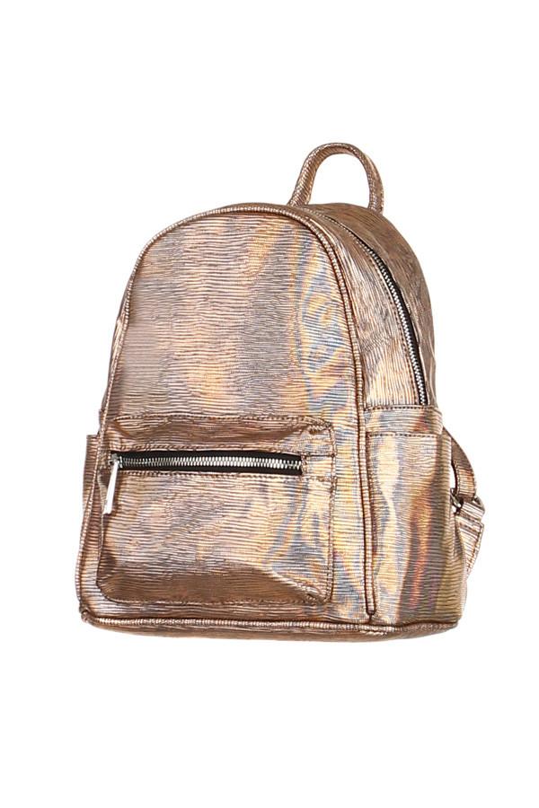 0538717125 Dámský malý městský lesklý batoh elegantního vzhledu