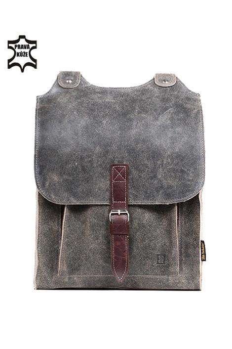 Velký dámský retro batoh z pravé kůže  632c75f911