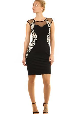 cca4df0a6514 Luxusní černé společenské šaty xs