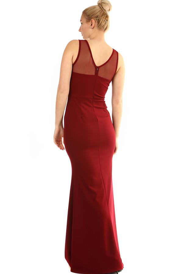 Dlouhé plesové šaty s krajkovým vrškem  2973eb4fc0