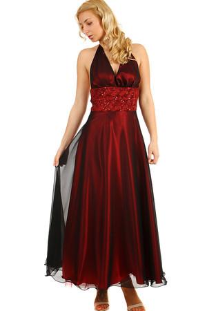 3dfea13c3f21 Lesklé večerní dámské vínové šaty na ples