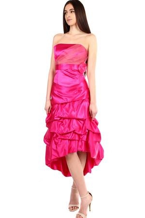 Dámské růžové korzetové šaty na ples cf587d138d