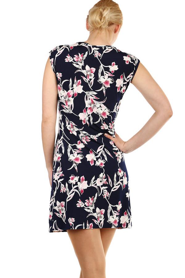 Dámské krátké květované šaty na léto  85c8356f809
