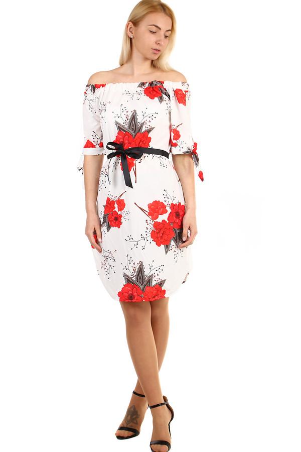 Letní dámské krátké šaty bez ramínek  43643d52f39