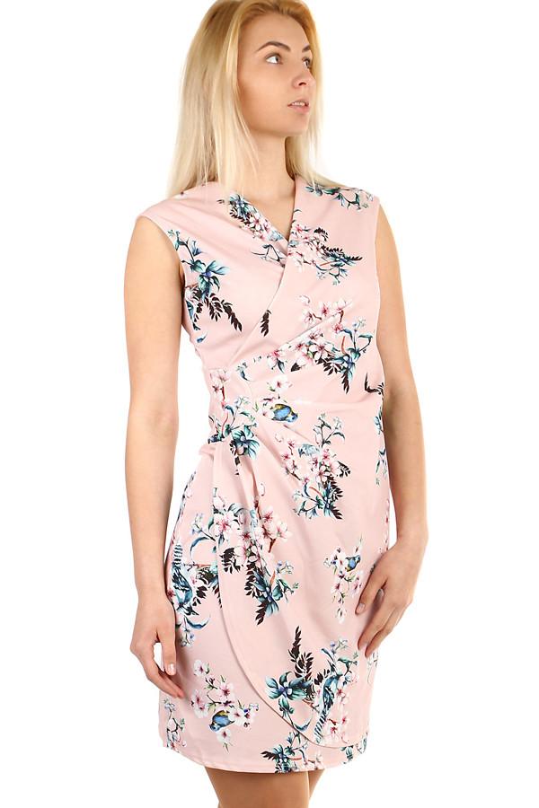 ec9a6afc5eaa Zavinovací dámské šaty s potiskem