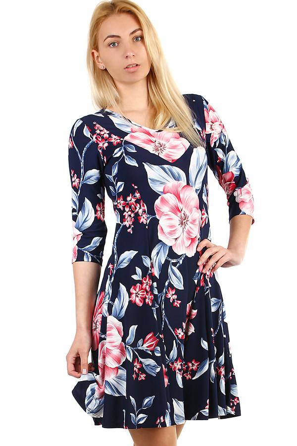 Dámské letní šaty s květinovým potiskem i nadměrná velikost  1c9b05a5da