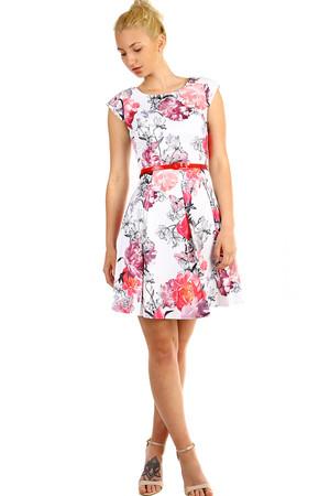 d5a6223d8ce Áčkové dámské retro šaty s květinovým potiskem