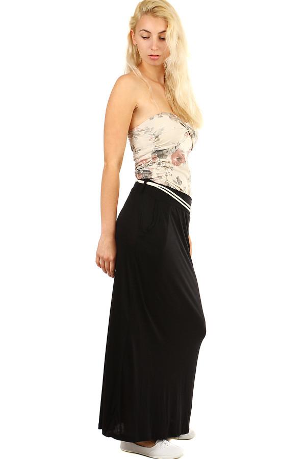 f422ef706d Dámská dlouhá jednobarevná maxi sukně