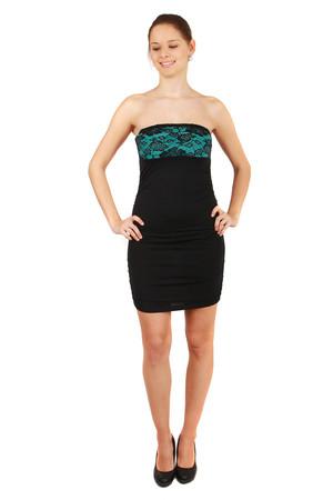 14d2d7afa6ab Luxusní tyrkysové společenské šaty