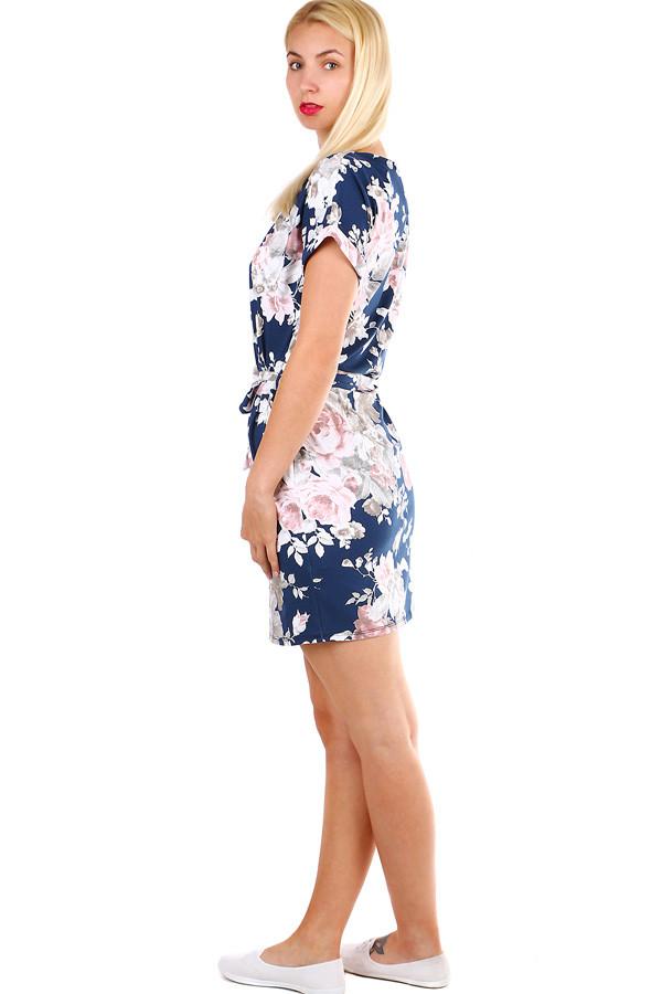 721cf8cd4a Dámské krátké bavlněné šaty s potiskem