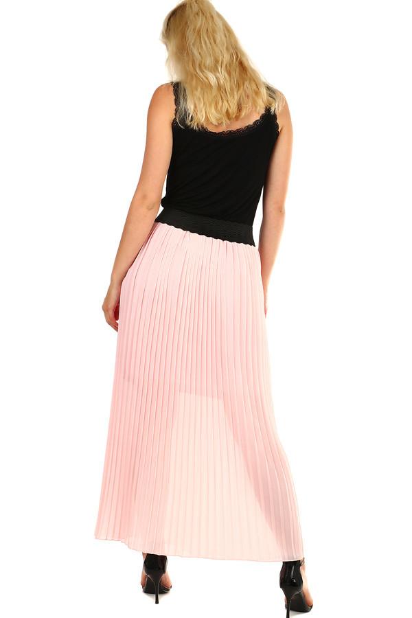 5698618abb21 Dámská skládaná plisovaná dlouhá sukně