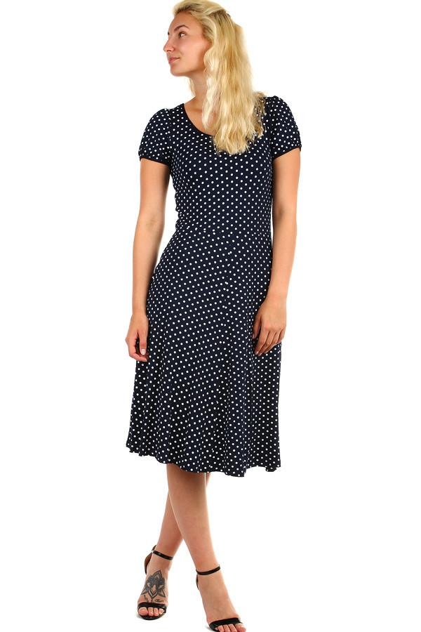 45437a5a2e76 Puntíkované dámské retro šaty