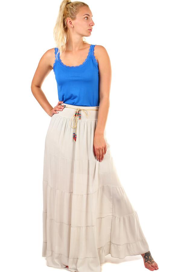 Jednobarevná dlouhá dámská maxi sukně  4f01d00b61